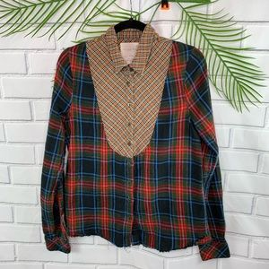 We The Free by Free People mixed plaid flannel top